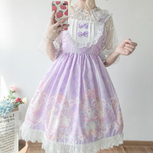 Cute Bow Cat Strap Dress SE20493