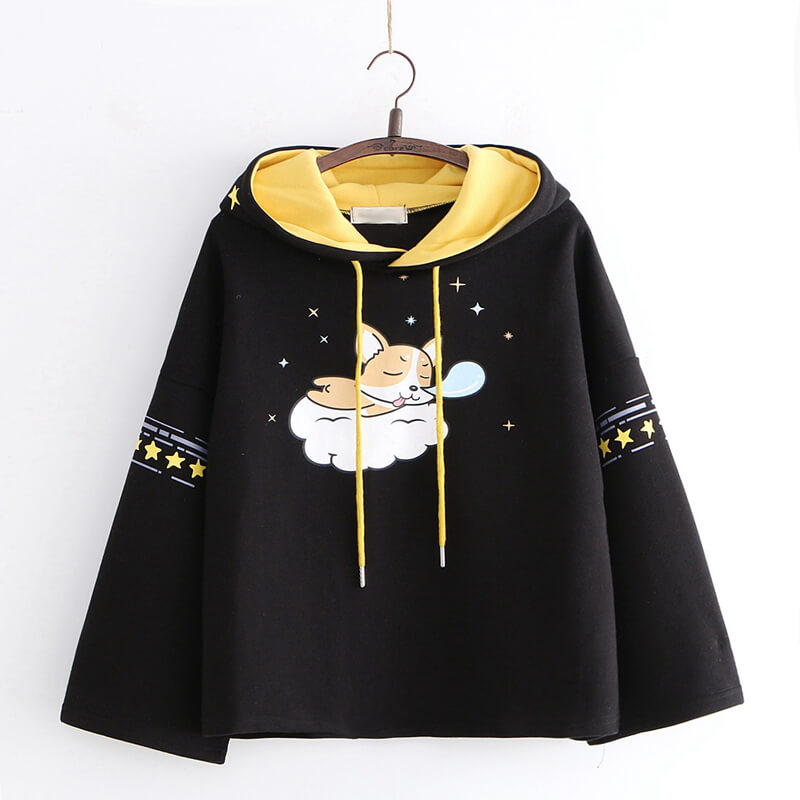 Cute Dog Star Cape Coat Hoodie SE20774