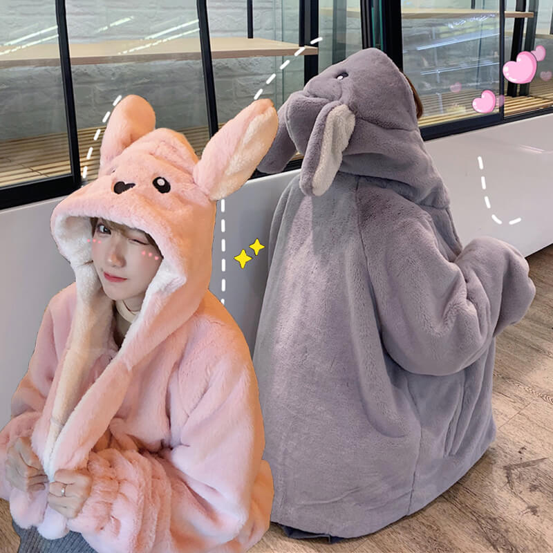 Cute Rabbit Ears Hooded Coat SE20746