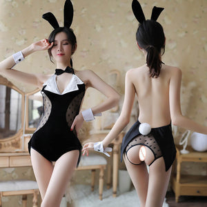 Cute Star Mesh Rabbit Lingeries SE20409