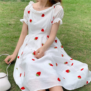 Cute Strawberry Lace Dresses SE20392