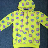 Yellow Doughnuts Hooded Fleece SE9036