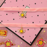 Pink Velvet Strip Cartoon Necklace SE11141
