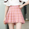 Grid Tall Waist Pleated Skirt SE10281