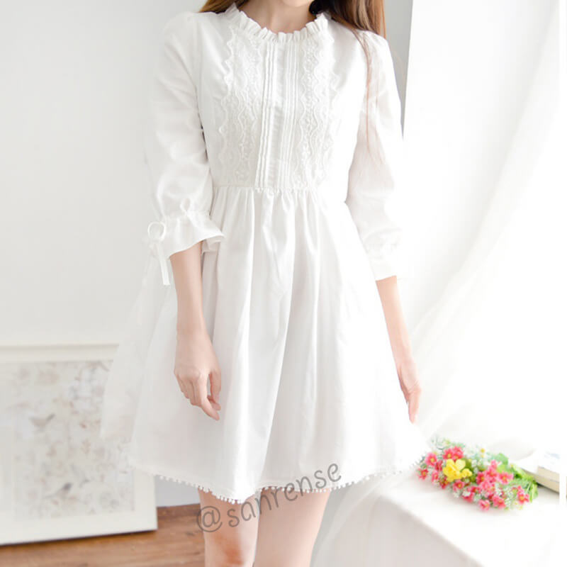 Japanese Flower Lace Dress SE9913
