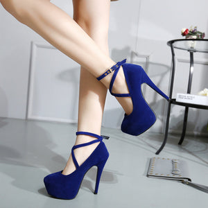 Fashionable Suede Heels Shoes SE20293
