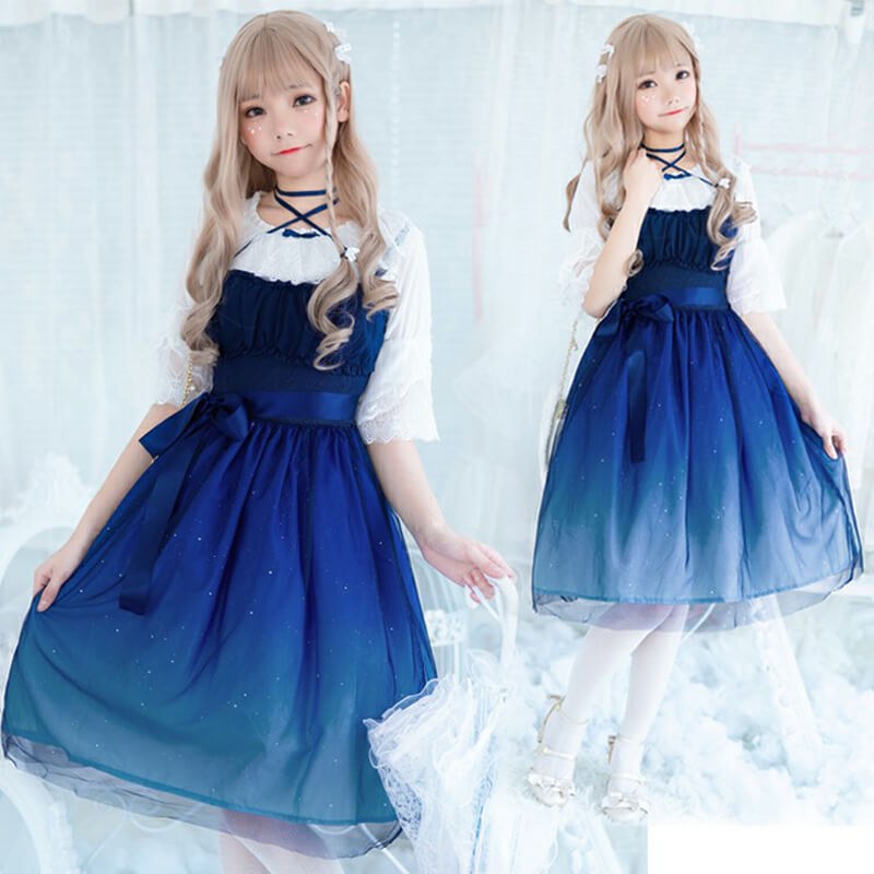 Free Shipping Japanese Galaxy Dress SE10343
