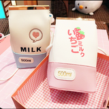Blue/pink milk strawberry bag SE10100