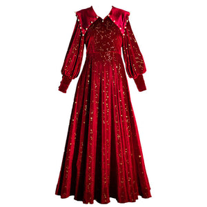 Galaxy Pearl Red Dress SE21249