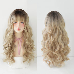 Golden Wavy Wig Curls SE20845