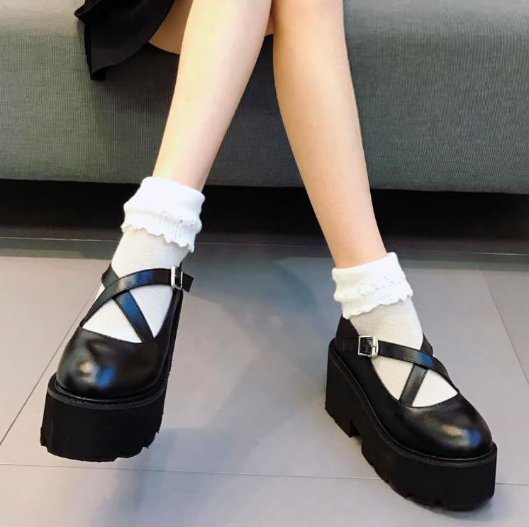 Gothic Ankle Platform Shoes SE21561