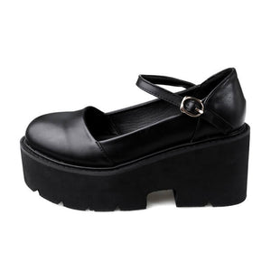 Gothic Ankle Strap Punk Shoes SE21298