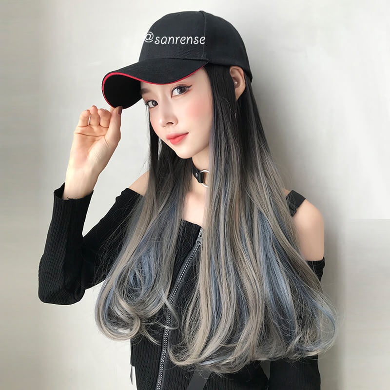 Gradient One-piece Hat Wigs SE20994