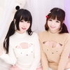 Cute sweet clothing sexy cat turtleneck sweater