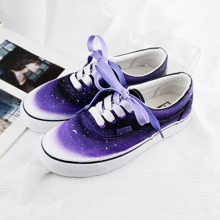 Harajuku Purple Galaxy Gradient Shoes SE20815