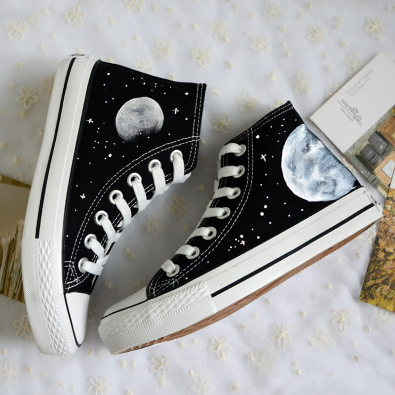 Harajuku Galaxy Cosmic Moon Shoes SE20663