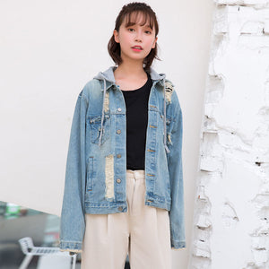 Harajuku Hollow Wings Denim Jacket SE20669