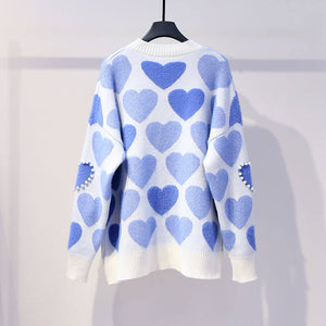Heart Mohair Knit Sweater SE20552