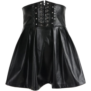 High Waist Leather Skirt SE20220