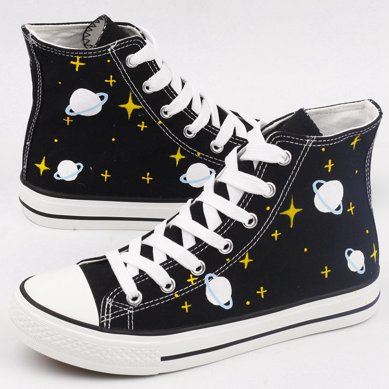 Harajuku Graffiti Galaxy Canvas Shoes SE7236