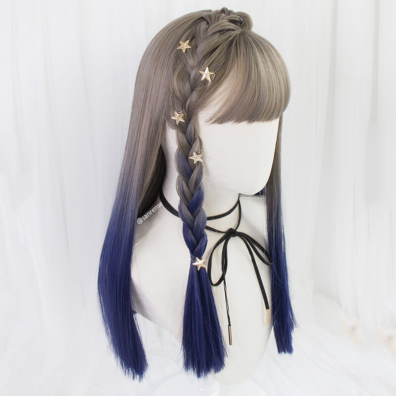 JK Gray Blue Gradient Wig SE21303