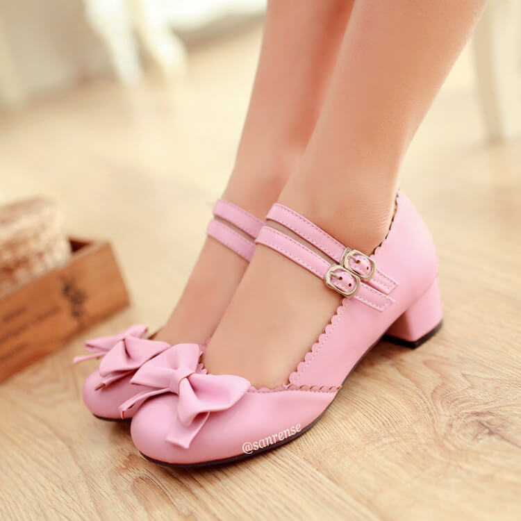 JK Lolita Bow Shoes SE21130