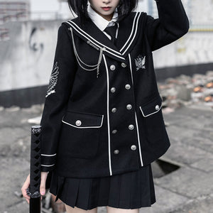 JK Sailor Coat Pleated Skirt Suit SE21223