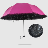 Harajuku fashion galaxy lace prevented bask umbrella SE3521