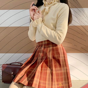 Japanese Button Puff Sleeve Sweater SE21406