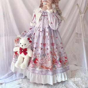 Japanese Cat Bow Dress SE21029