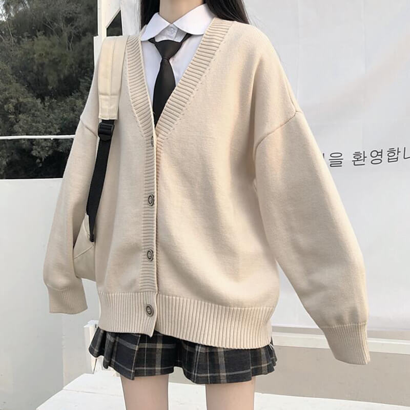 Japanese JK Cardigan Sweater Coat SE21235
