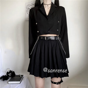 Japanese JK Shirt Pleated Skirt Suit SE20930