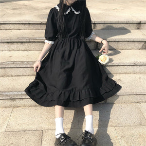 Japanese Kawaii Lace Ruffles Dress SE21045
