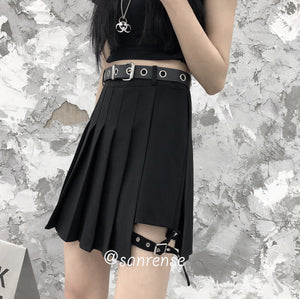 Japanese Leg Loop Pleated Skirt SE21055