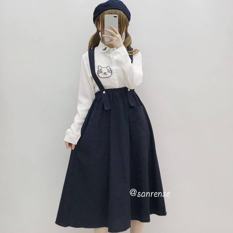 Japanese Linen Pocket Skirt SE20977