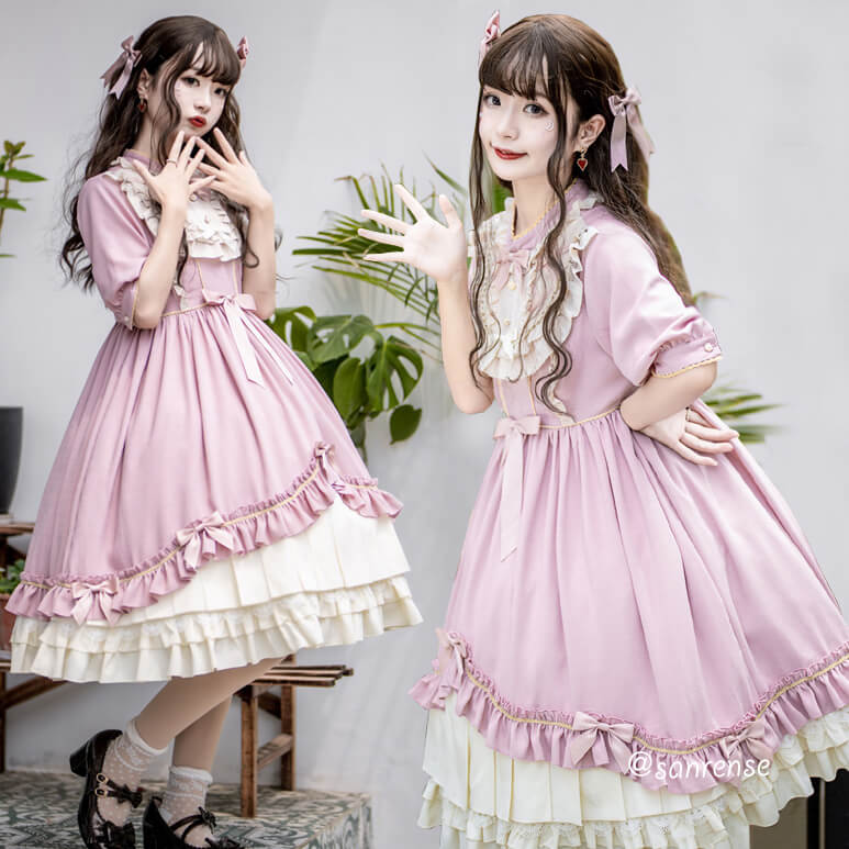Japanese Lolita Lace Bow Dress SE21026