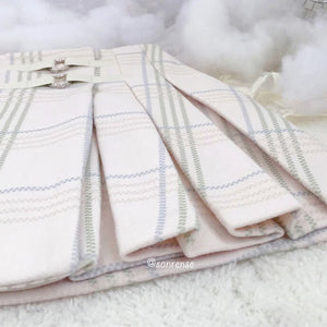 Japanese Pastel Plaid Pleated Skirt SE21109