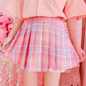 Japanese Pastel Plaid Skirt SE21058