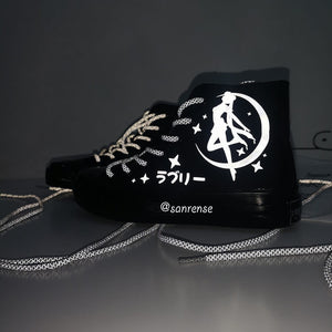 Japanese Sailor Moon Reflective Canvas Shoes SE20975