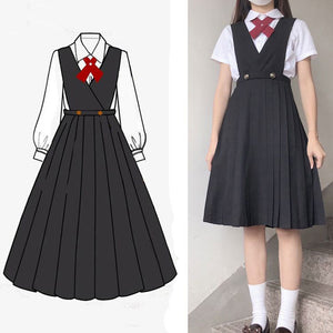 Japanese Strap Pleated Dress SE21450