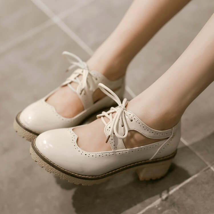 Japanese Student Round Shoes SE21222