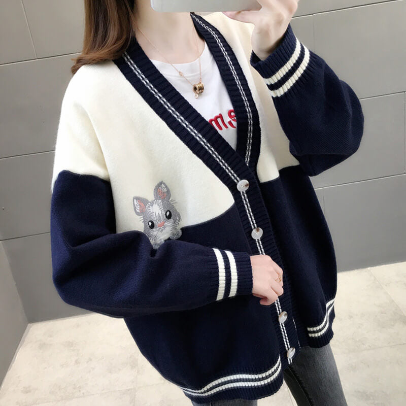 Japanese Bunny Knitted Cardigan Sweater SE20790