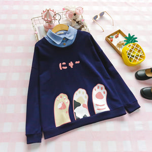Japanese Cat Claw Sweatshirt SE20496