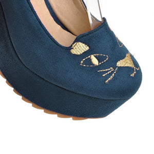 Japanese Cat Platform Shoes SE20215