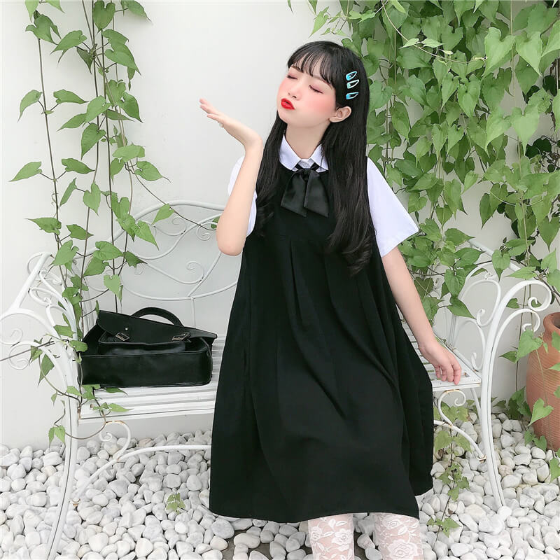 Japanese College Wind Shirt Skirt Set SE20482