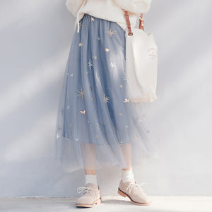 Japanese Flower Mesh Skirt SE20323