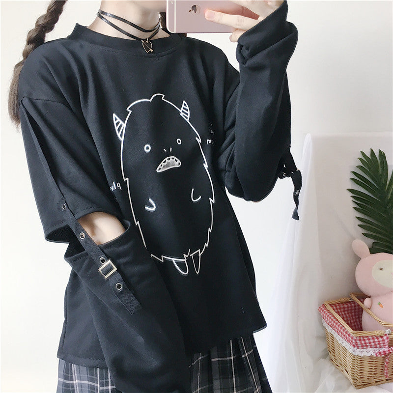 Japanese Harajuku Kawaii Monster Gothic Sweatshirt SE20252