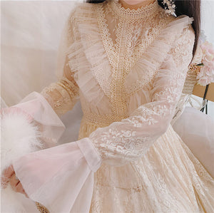 Japanese Lace Flower Dresses SE20688
