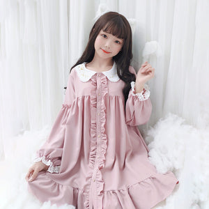 Japanese Lace Fungus Embroidery Doll Dress SE20691