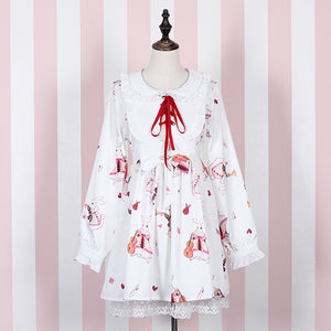 Japanese Lolita Rabbit Bow Dresses SE20320